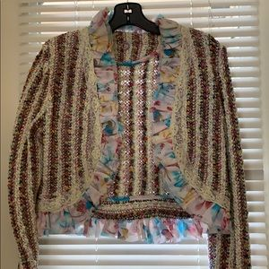 One Girl Who Sweaters - Vintage multi colored sweater